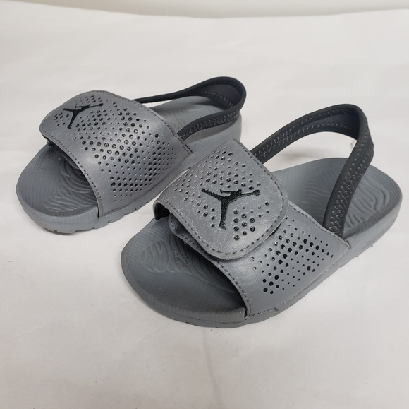 90ad37e3da9a9 Jordan Shoes | Toddler Slides Gray Sandals | Poshmark